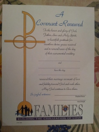 "KofC Certificate ""Covenant of Renewal"""