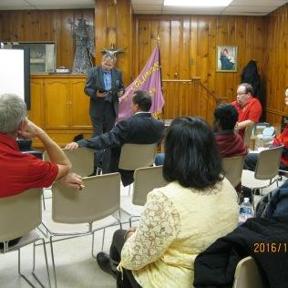 District Deputy Joe Sawchuk addressing the audience.