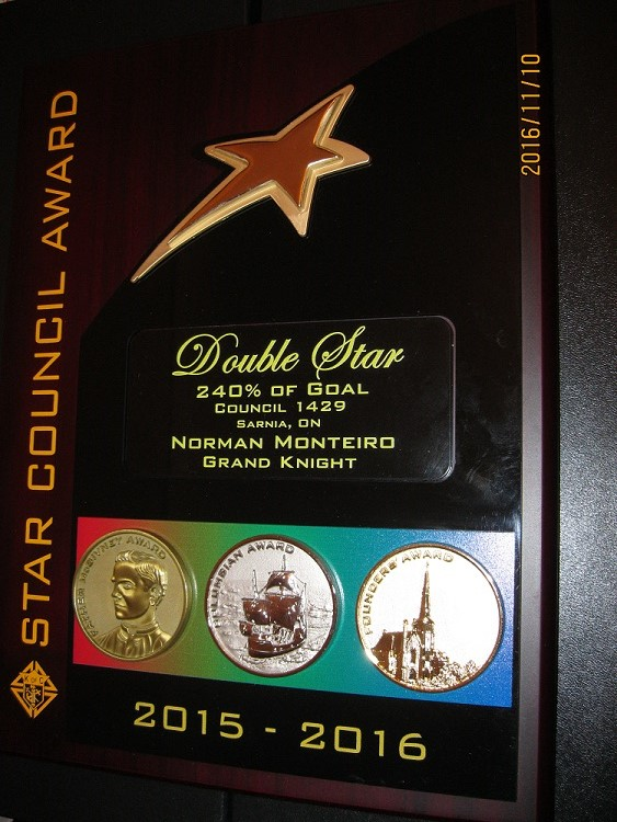 DOUBLE STAR AWARD 2015 – 2016