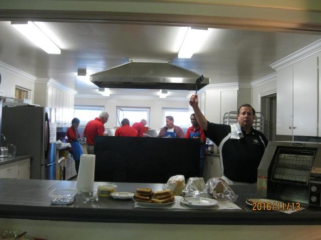 Our worthy Fraternal Advisor Dan Gimpel and his amazing pancakes. Thanks Dan!