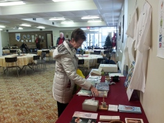The merchandise table, a favorite with parishioners
