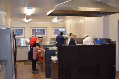 Joanna giving the meal the touch only she can with great support in the background from Vin, Sean, John Spinozzi, Joan, Kristin and of course, Sam.