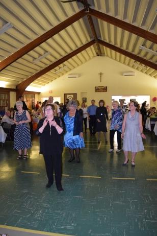 Darlene Landry leads the Line Dance