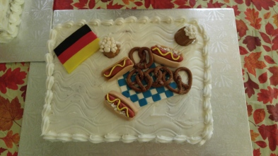 A cake fit for Oktoberfest. Thanks to Crystal LaCroix.