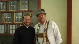 Council Chaplain Fr David Johnston and Fraternal Advisor Dan Gimpel having a great time