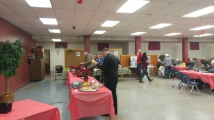The potluck buffet
