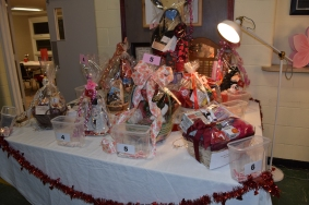 Gift baskets lovingly put together by Christine and Deanna